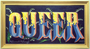 Queer, 1885, 44 x 88 inches, oil and gold leaf on linen, 1987.