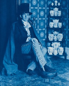 Portrait of the Artist with His Spill Vases, 1907, 10 x 8 inches, cyanotype, 1989.