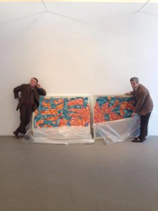 Peter and David installing M77 show.