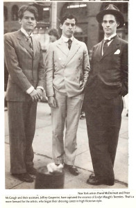 Image of Peter, David and Jeffrey Gasperini (the ménage a trois).