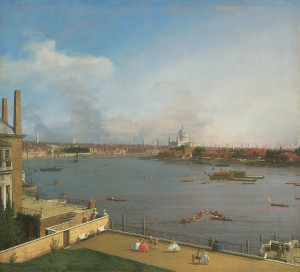 Canaletto: View of the River Thames from Richmond House, London