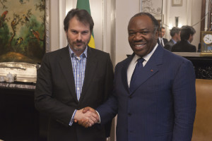 Simon Anholt with President Ali Bongo Ondimba of Gabon, London 2012