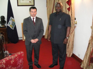 Simon Anholt with President Koroma of Sierra Leone