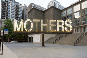 Martin Creed Work No. 1357: MOTHERS 2012 White neon, electric motor and steel MCA, Chicago