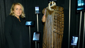 "Silvia Venturini Fendi at the exhibition ""Making Dreams: Fendi and the Cinema,'' in Milan. Credit Catwalking"