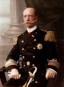 King George I of Greece, born in Copenhagen in 1845.