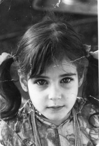 Esther when she was living in Morocco, aged about 5.