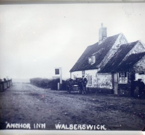 The house Esther lived in in Suffolk when it used to be a pub, about 100 years ago.