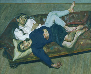 Lucian Freud, Bella and Esther, 1988, oil on canvas, 73.7 x 88.9 cm, Private Collection, © the Artist.