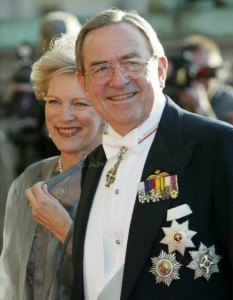 Former King Constantine of Greece and his wife Queen Anne Marie.