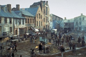 "An image from Ferretti's set for the ""Gangs of New York"" (2002)"
