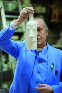 Luigi Ontani in Gatti atelier, Faenza, 2015 Photo: Luciano Leonotti Courtesy: Galleria Lorcan O'Neill