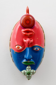 LUIGI ONTANI BeatiSolitudine 2007 Wooden mask 75 x 35 x 25 cm Courtesy: Galleria Lorcan O'Neill