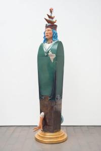 LUIGI ONTANI ErmEstetica CristoFORO Colombo 1996 Polychrome ceramic sculpture 206 x 52 x 64 cm Courtesy: Galleria Lorcan O'Neill