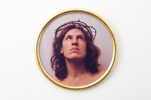 LUIGI ONTANI  EccE HOMO 1970  Colour photograph 84 cm (diameter) Courtesy: Galleria Lorcan O'Neill