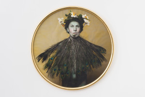 LUIGI ONTANI VanITA' 1997 Watercolour on photograph 129 cm (diameter) Courtesy: Galleria Lorcan O'Neill