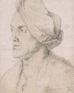 1. Dürer Artists Brother Albrecht Dürer (1471-1528), Portrait of the Artist's Brother Endres, ca.1518, Charcoal on paper, background heightened with white. Gift of Mrs. Alexander Perry Morgan in memory of Alexander Perry Morgan, 1973, The Morgan Library & Museum.