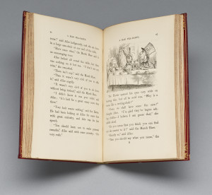 22. First edition suppressed edition Lewis Carroll (1832–1898), John Tenniel (1820–1914), illustrator, Alice's Adventures in Wonderland, London: Macmillan and Co., 1865, First printing (first suppressed edition). Gift of Arthur A. Houghton, Jr.,The Morgan Library & Museum, Photography by Graham S. Haber, 2015.