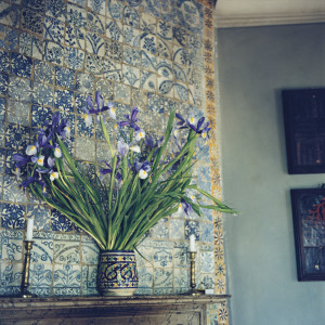 Yto Barrada, Iris sur la cheminée (Irises on the Mantel), 2009/2010 C-print, 100 x 100 cm© Yto Barrada & Galerie Sfeir-Semler, Hamburg/Beirut