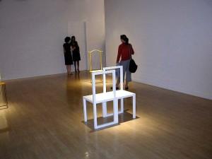 Robert Wilson's non-furniture at Rena Bransten Gallery.