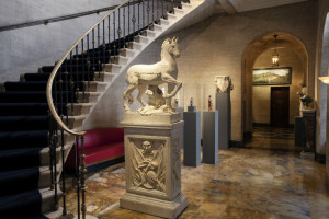 Staircase at Academy Mansion. Photo: Elizabeth Lippman.
