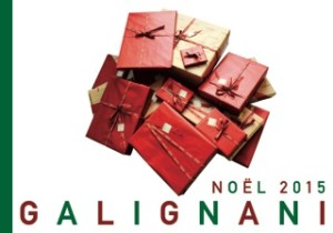 Design for the front cover of the Galignani Xmas Catalogue 2015.