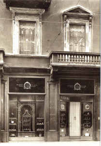 The first Buccellati store was in Largo Santa Margherita, Milan.