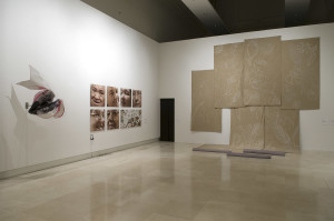 The Rome Quadrennial Exhibition 2008. From the Left, works by Diego Perrone, Stefano Boccalini, Claudia Losi.