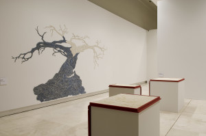 The Rome Quadrennial Exhibition 2008. From the Left, works by Luisa Rabbia and Elisabetta Di Maggio.