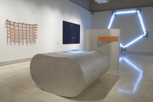 The Rome Quadrennial Exhibition 2008. The works are by Vittoria Mazzoni, in the centre; Antonio Catelani e Luca Costantini on the left; Stefano Bonacci on the far wall.