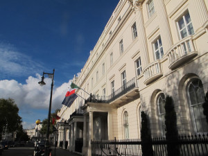 The Italian Cultural Institute at 39 Belgrave Square, London.
