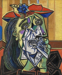 "Simon's ""Musée Imaginaire"": Weeping Woman 1937 Pablo Picasso 1881-1973 Accepted by HM Government in lieu of tax with additional payment (Grant-in-Aid) made with assistance from the National Heritage Memorial Fund, the Art Fund and the Friends of the Tate Gallery 1987 http://www.tate.org.uk/art/work/T05010"