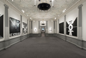Installation Shot of the current Erik Bulatov Exhibition at 3 Grafton Street
