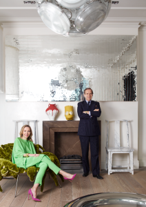 Simon and Michaela de Pury in their home.