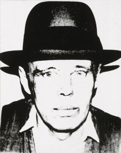 Andy Warhol Joseph Beuys, 1980 synthetic polymer and silkscreen ink on canvas 20 x 16 in. Hall Collection© 2015 Hall Art Foundation. © Andy Warhol