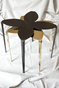 Brass - Flower Table set stacked