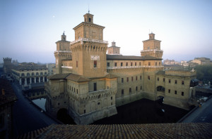 Castello Estense is a moated medieval castle in the center of Ferrara.