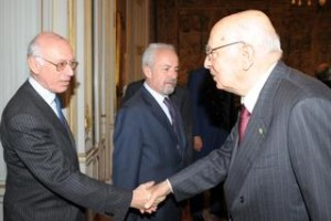 Dario Disegni with the former President of the Republic Giorgio Napolitano.