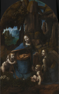 Leonardo da Vinci  The Virgin of the Rocks (The Virgin with the Infant Saint John adoring the Infant Christ accompanied by an Angel)  about 1491 - 1508  (c) National Gallery, London