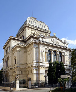 The exterior of the Great Synagogue, Rome.