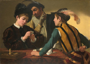 Caravaggio (Michelangelo Merisi) The Cardsharps Italian (1571–1610) 16th century c. 1595 Oil on canvas
