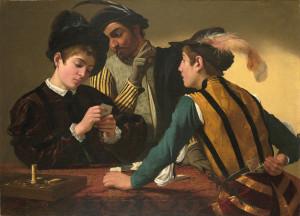 Caravaggio (Michelangelo Merisi) The Cardsharps Italian (1571–1610) 16th century c. 1595 Oil on canvas