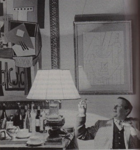 Douglas Cooper with two of his Picassos.