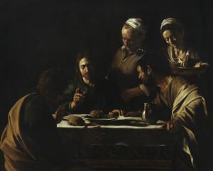 Caravaggio (Michelangelo Merisi) Cena in Emmaus 1605-1606 olio su tela cm 141 × 175