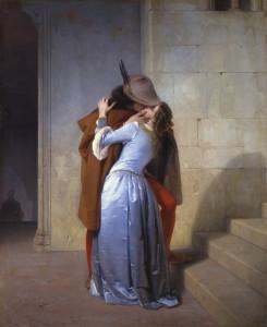 Francesco Hayez Il bacio 1859 olio su tela cm 112 × 88