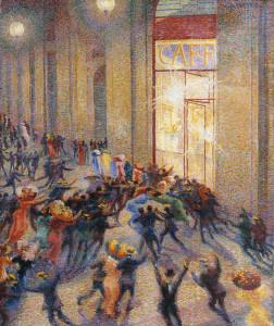 Umberto Boccioni Rissa in galleria 1910 olio su tela cm 74 × 64