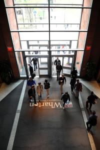 Jon M. Huntsman Hall - Locust Walk Entrance