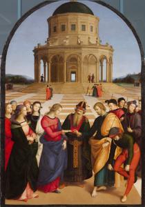 Raffaello Sanzio Sposalizio della Vergine 1504 olio su tavola cm 170 × 118