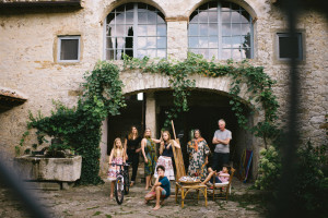 At home in Tuscany. Photograph: Lelia Scarfiotti