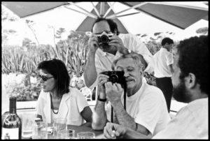 Princess Caroline of Monaco, Marco Zanini and Ettore Sottsass, 1989 © Jean Pigozzi